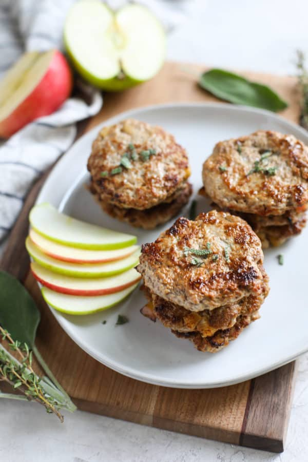 Pork & Apple Patties with Red Cabbage and Apple Slaw