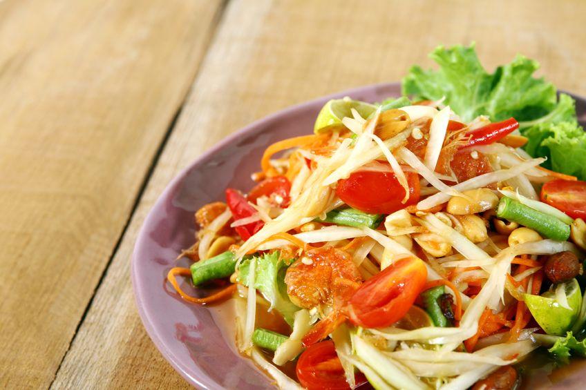 Chicken with a warm Thai Salad
