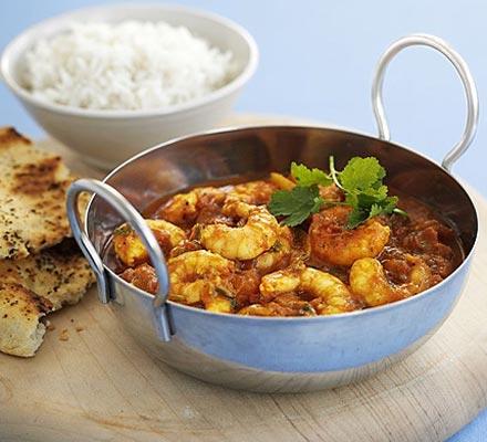 Prawn Curry & Brown Rice