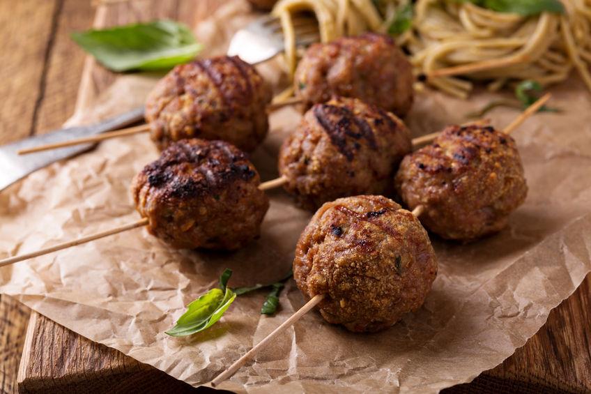Turkey meatballs & sweet potato and broccoli