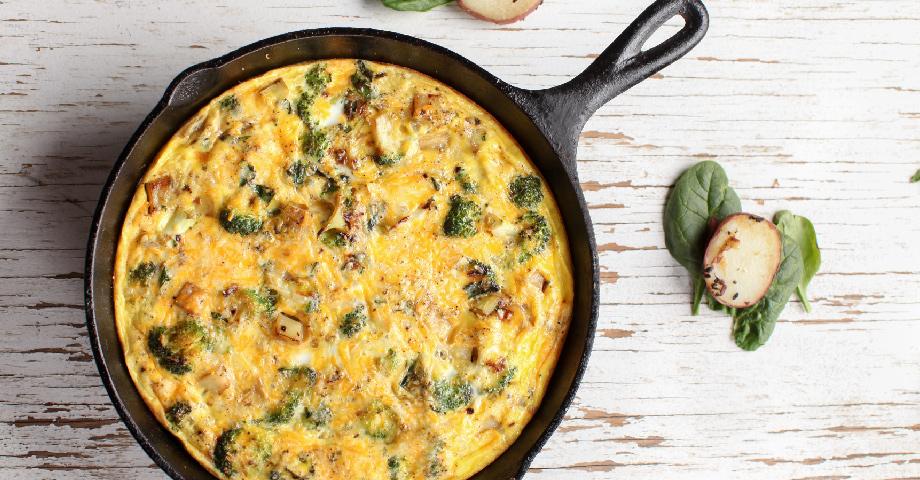 Broccoli, Onion & Manchego Cheese Fritatta
